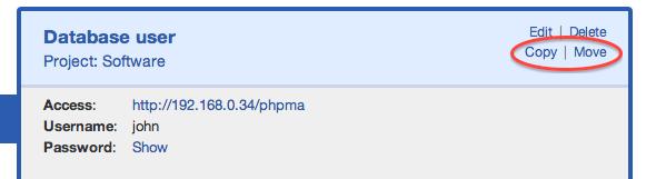 Password entry copy/move