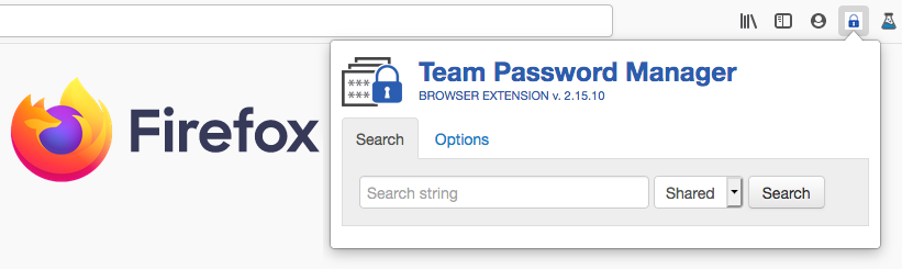 Firefox Extension for Team Password Manager