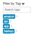 Searching tags