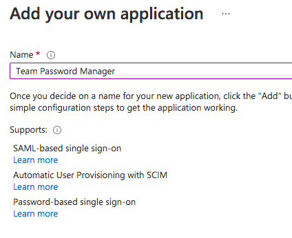 Azure AD Application Name