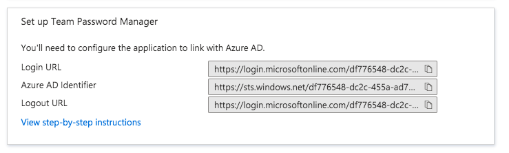 Azure AD SAML IdP details