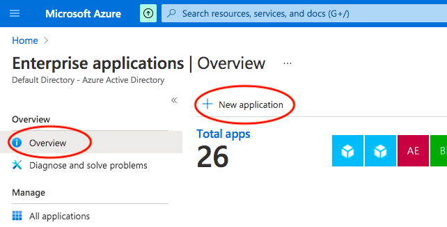 Azure AD New Application