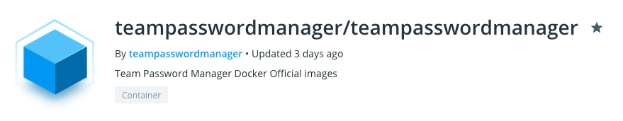 Team Password Manager on Docker Hub