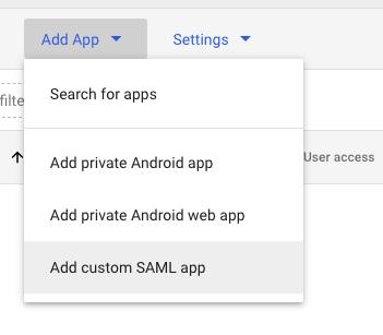 Google add custom SAML app