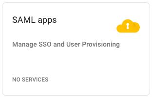 Google SAML apps