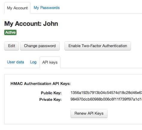 HMAC API Keys