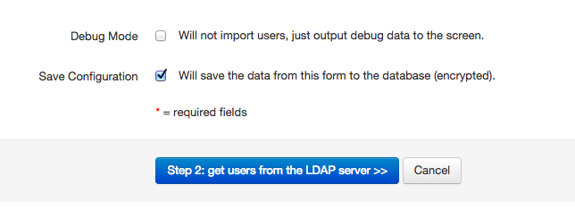 Save and debug LDAP import