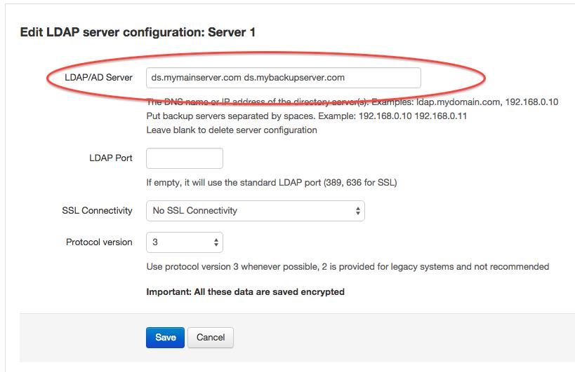 LDAP backup server