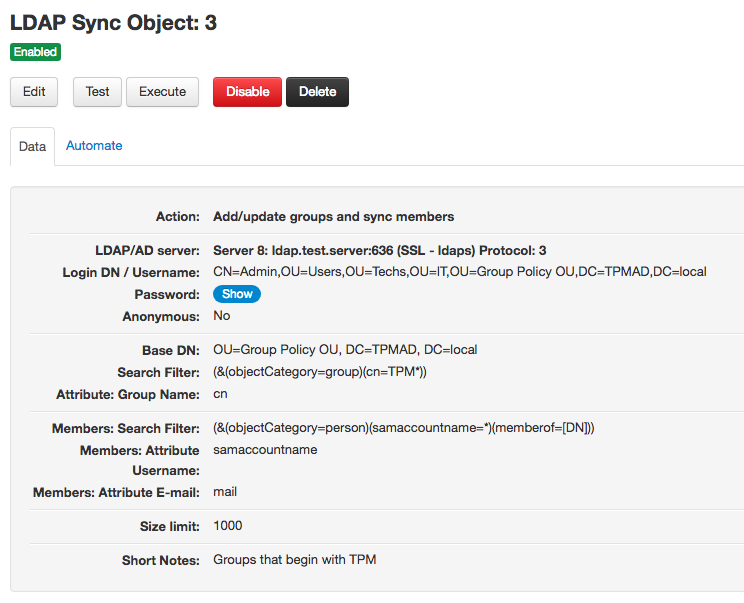 LDAP Sync delete groups object
