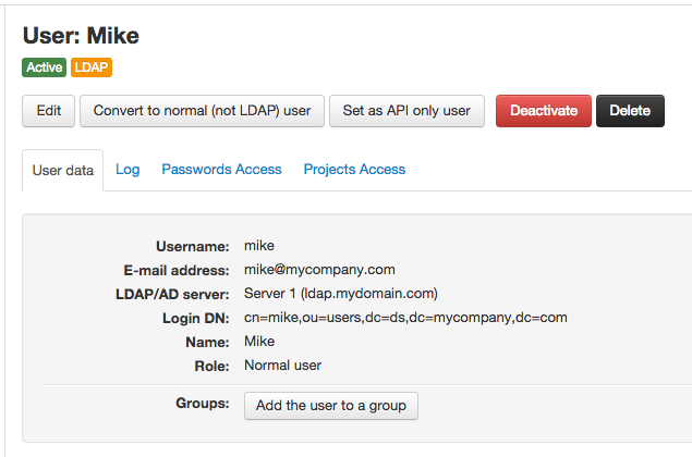 An LDAP user