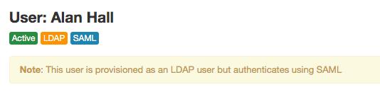 LDAP SAML user