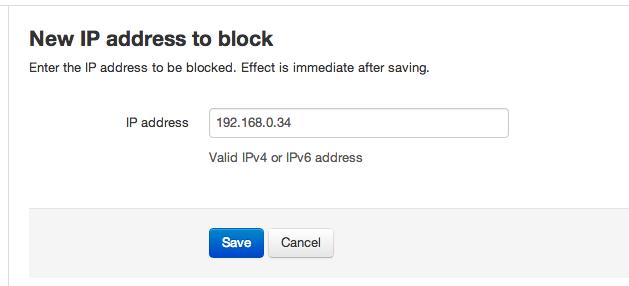 New IP address to block