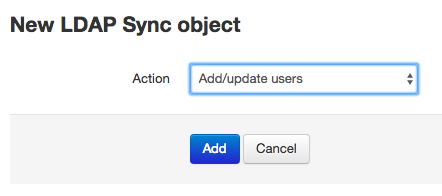 New LDAP Sync object