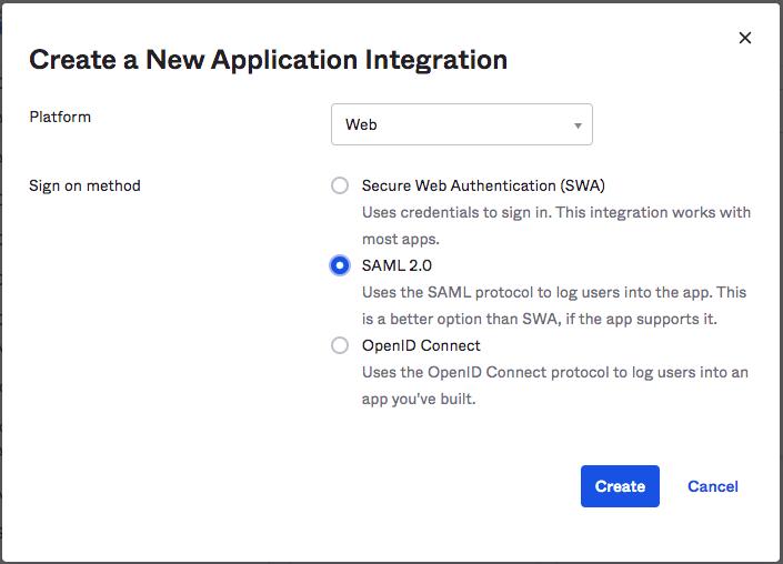 Create New Okta Application