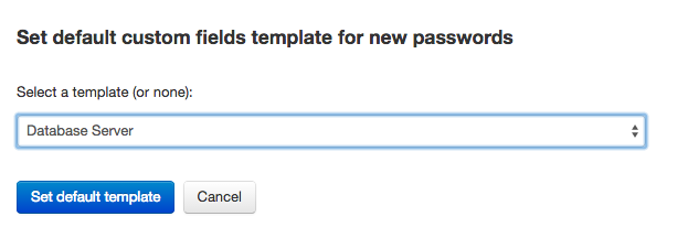 Setting a default template