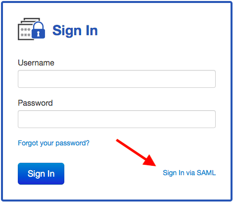 Sign In with SAML link