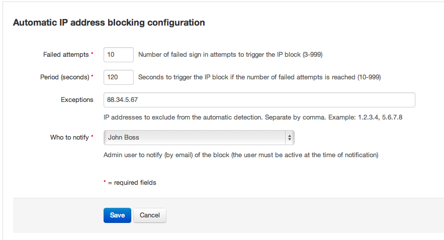 Automatic IP Address Blocking