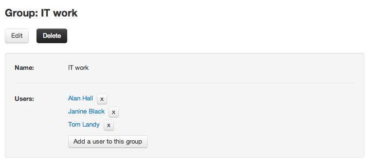 User groups in Team Password Manager
