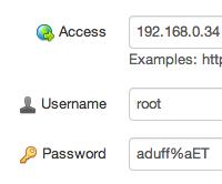 Editing a password