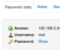 Viewing a password