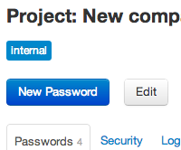Passwords in a project